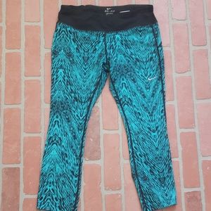 Nike Dri Fit Blue Capris